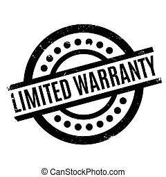 Limited Warranty rubber stamp. Grunge design with dust...