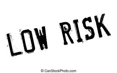 Low Risk rubber stamp. Grunge design with dust scratches....