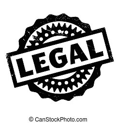 Legal rubber stamp. Grunge design with dust scratches....