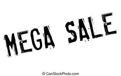 Mega Sale rubber stamp. Grunge design with dust scratches....