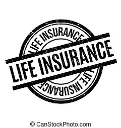 Life Insurance rubber stamp. Grunge design with dust...