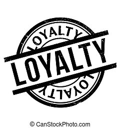 Loyalty rubber stamp. Grunge design with dust scratches....