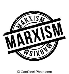 Marxism rubber stamp. Grunge design with dust scratches....