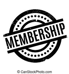 Membership rubber stamp. Grunge design with dust scratches....