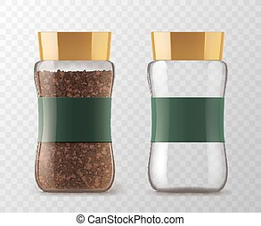 Instant coffee glass jar models - Coffee glass jar with...