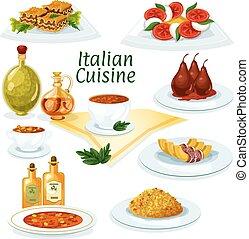 cucina, ristorante, disegno, icona, cartone animato,...