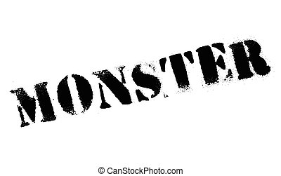 Monster rubber stamp. Grunge design with dust scratches....