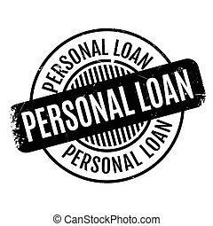 Personal Loan rubber stamp. Grunge design with dust...