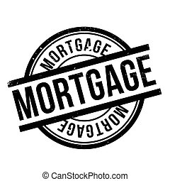 Mortgage rubber stamp. Grunge design with dust scratches....