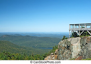 Touristic viewpoint on a mountain