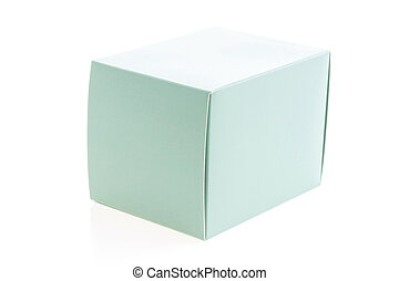 Mock up paper box isolated on white background