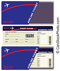 Flight Tickets to Belize - First-class ticket on the plane...