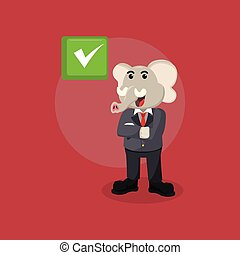 elephant with business suit