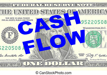 Cash Flow concept - Render illustration of 'CASH FLOW' title...