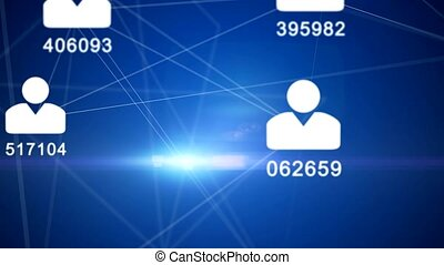 network - personal data - ID - big data - Avatars of people...