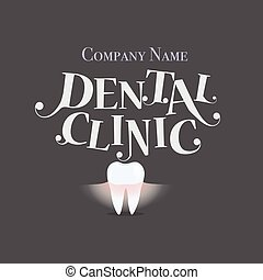 Dental Background with Healthy Teeth. Vector illustration