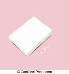 Blank white box mock up. Vector illustration.