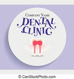 Dental Background with Healthy Teeth. Vector illustration.