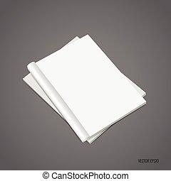 Blank catalog, magazines,book mock up. Vector illustration.