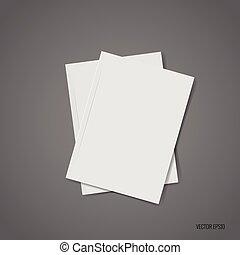 Blank catalog, magazines,book mock up illustration - Blank...