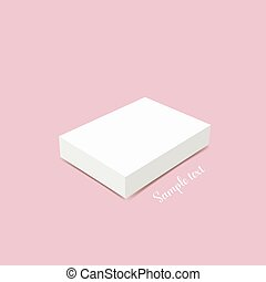 Blank white box mock up illustration - Blank white box mock...