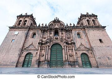 CUSCO PERU-NOV. 9: Cathedral of Santo Domingo on Nov. 9 2015...