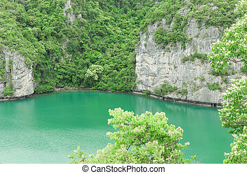 The lagoon called 'Talay Nai' in Moo Koh Ang Tong National...