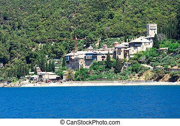 Xenofontos Monastery, Athos Peninsula, Mount Athos,...