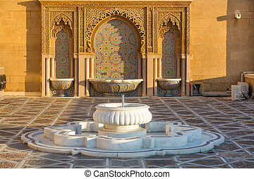 Rabat, Morocco - Source in Mausoleum of Sultan Mohamed V in...