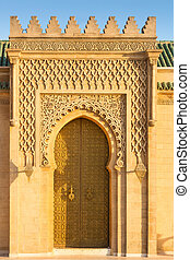Rabat, Morocco - Door on the esplanade of the Hassan Tower...