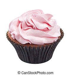 Cup cake topping with cream layers