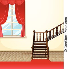 Room in the house illustration