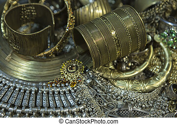Treasure, heap of Beautiful Oriental Golden Bridal jewelry...