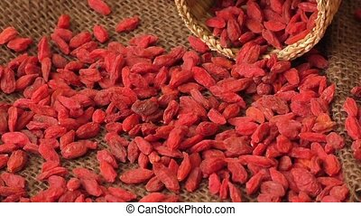 Red dried goji berries ( Lycium Barbarum , wolfberry )