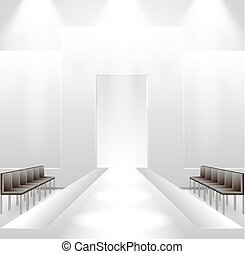 Catwalk background - Illustration of empty illuminated...