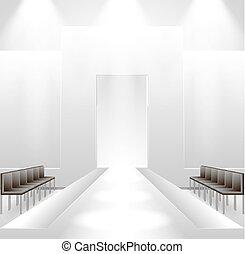 Catwalk background - Illustration of empty illuminated...