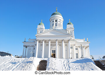 Helsinki Cathedral - Finland. Helsinki Cathedral in a sunny...