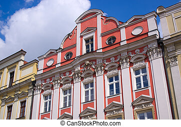 Polish tenement houses - Beautiful and colorful polish...
