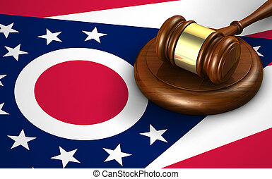 Ohio State Law Legal System Concept - Ohio US state law,...