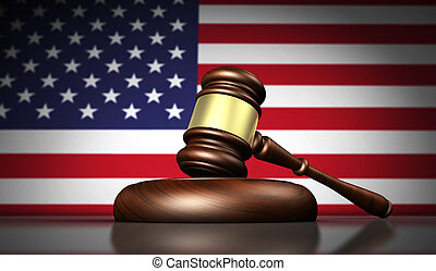 USA Law And American Justice Concept
