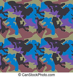 Camouflage pattern background seamless clothing print, repeatabl