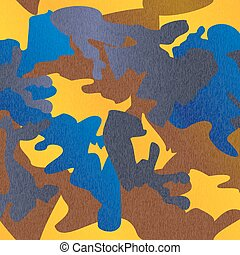 Camouflage pattern background clothing print, repeatable camo gl