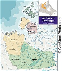 Map of Northwest Territories - The Northwest Territories is...