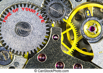 clockwork old mechanical high resolution with words time of...
