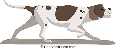 Pointer minimalist image - Pointer-dog minimalist image on a...