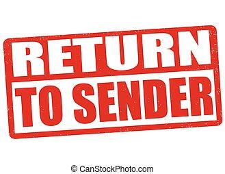 Return to sender sign or stamp