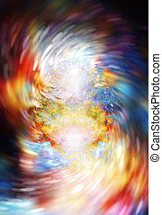 abstract background with cosmic energy swirling effect,...