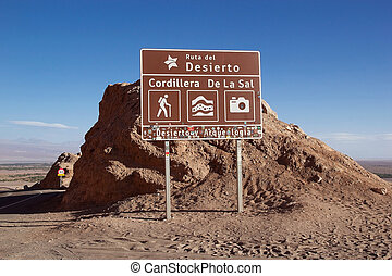 Cordillera dela Sal in the Atacama desert, Chile -...