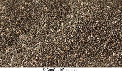 Many chia seeds