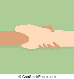 Hand holding Hand for help and hope - Hand holding Hand for...